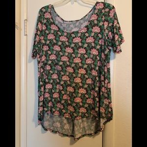 Cute Blouse flowery linger back style size 1X